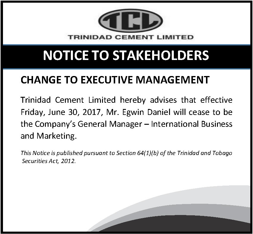 5 Notice of Change to Management -Egwin Daniel - June 26 2017