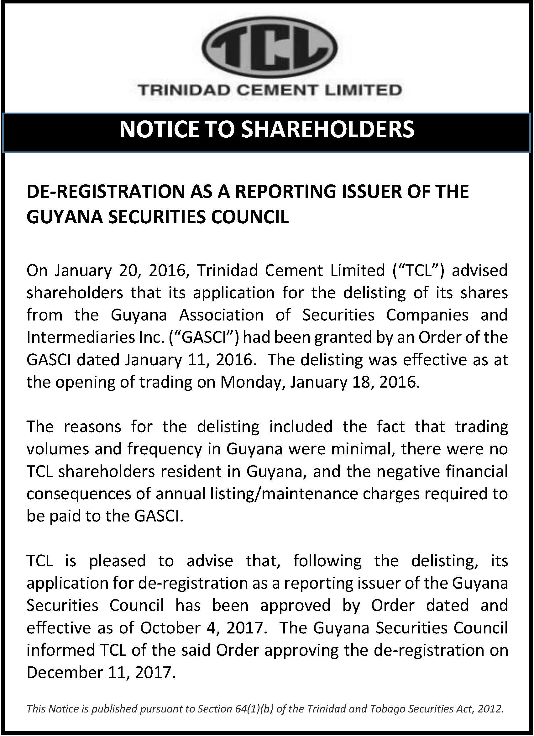 De-registration-from-GASCI---December-14-2017