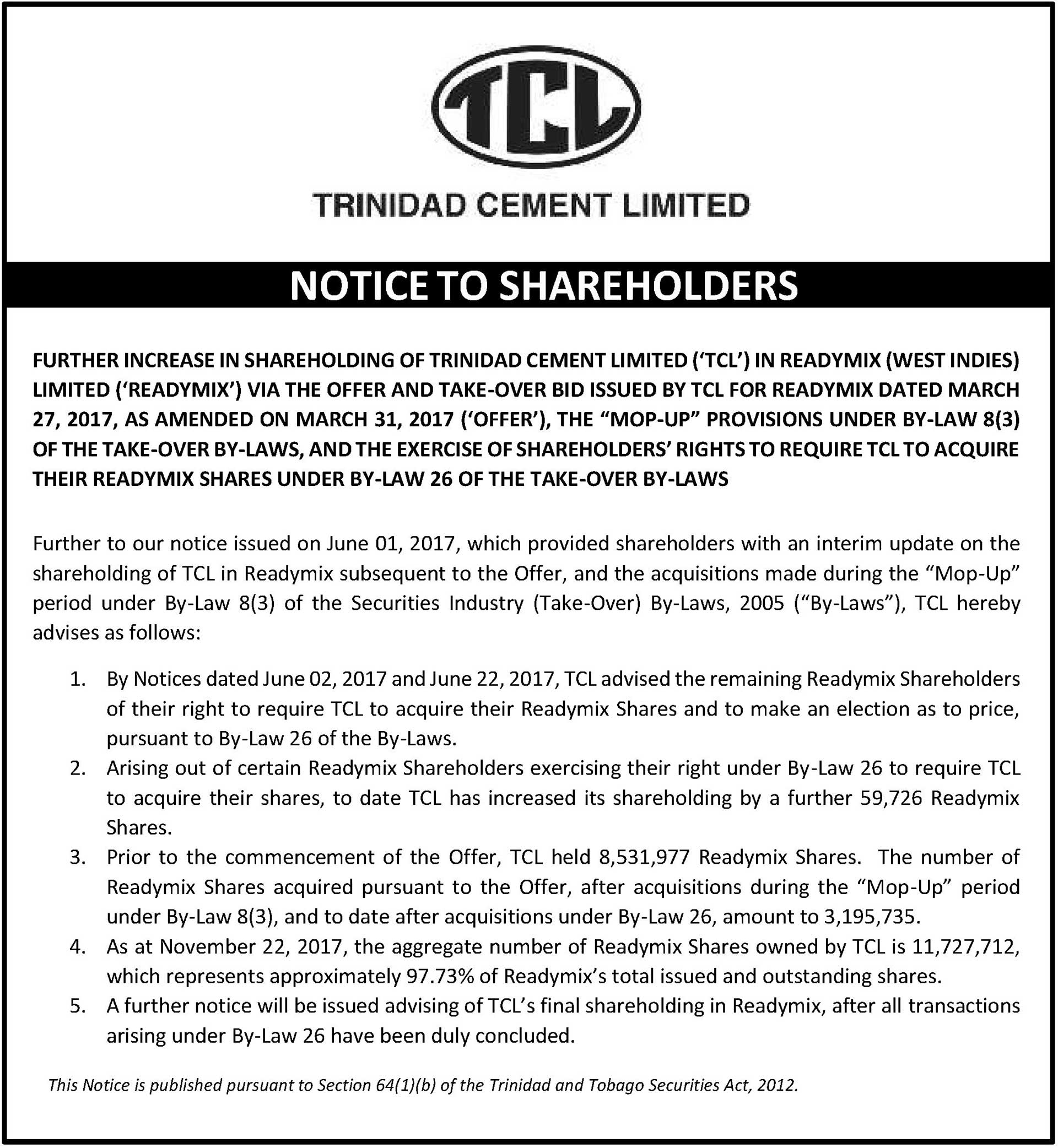 TCL-Notice-to-Shareholders---Increase-in-RML-Shareholding---Trinidad---2---